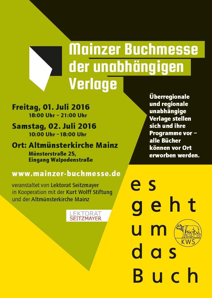 Plakat der Mainzer Buchmesse