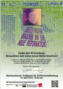 Plakat zur VS-Veranstaltung