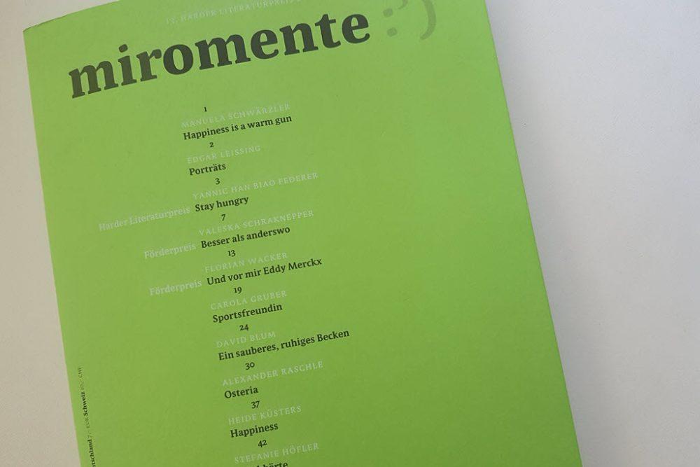 miromente - Harder Literaturpreis
